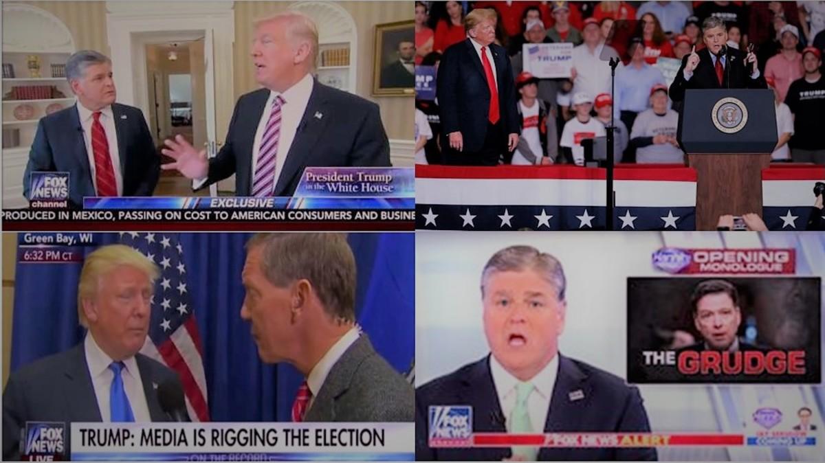 Trump and Fox News. Helping spread propaganda.