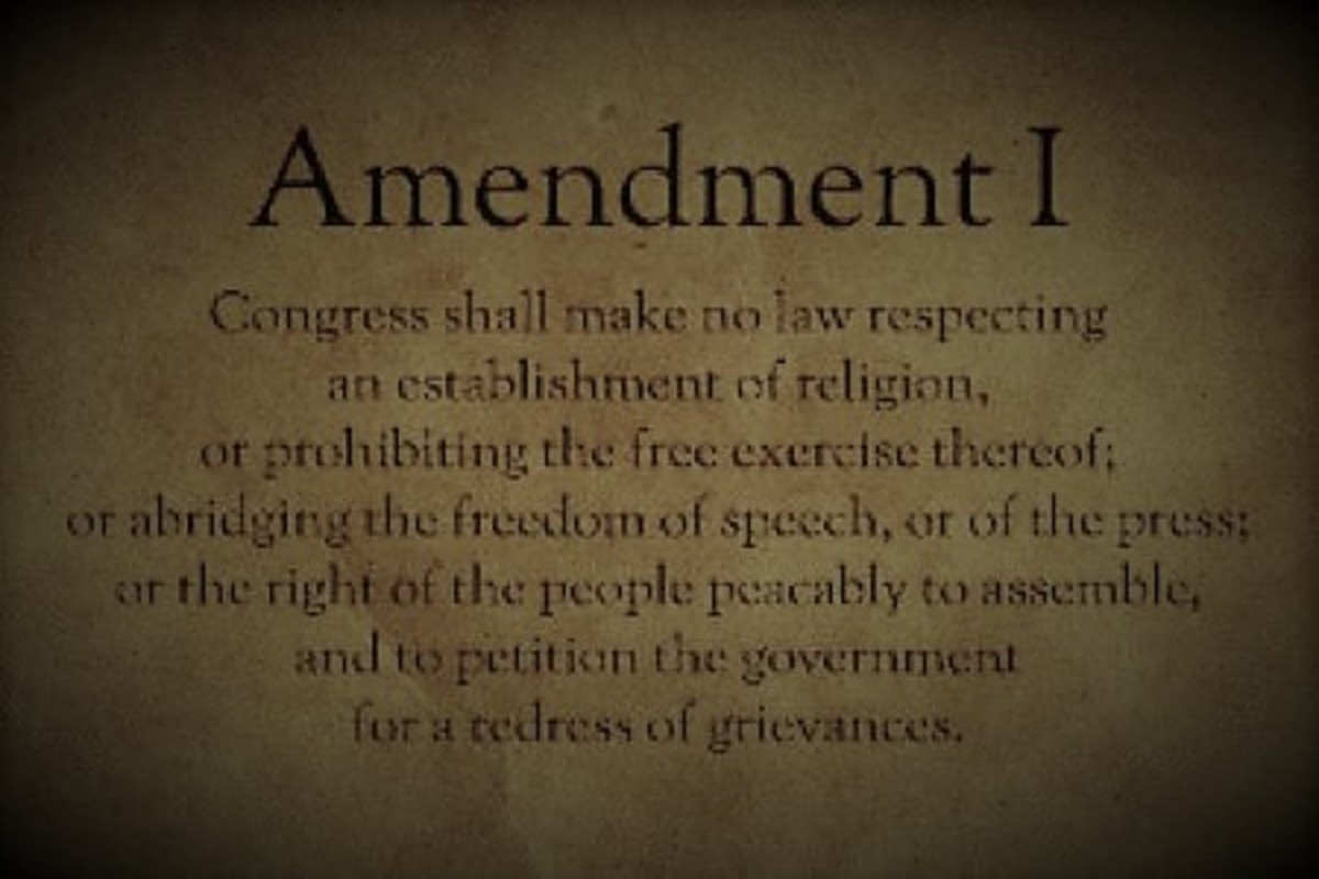 The First Amendment to the Constitution. 1771.