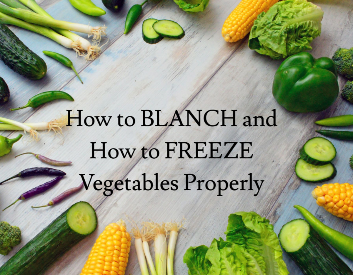 How to Blanch and How to Freeze Vegetables Properly