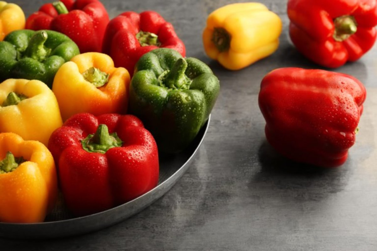 Bell peppers: great source of vitamin C