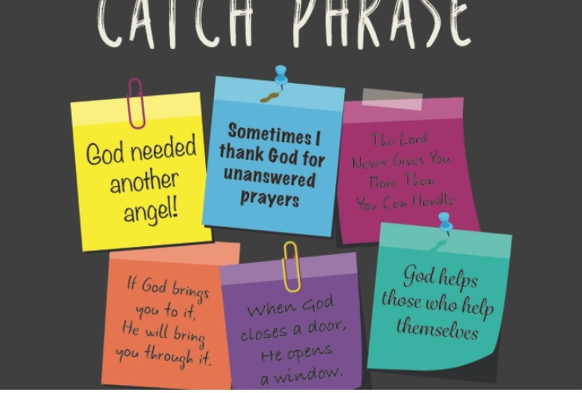 Church Slogans and Catch Phrases Are Not Biblical