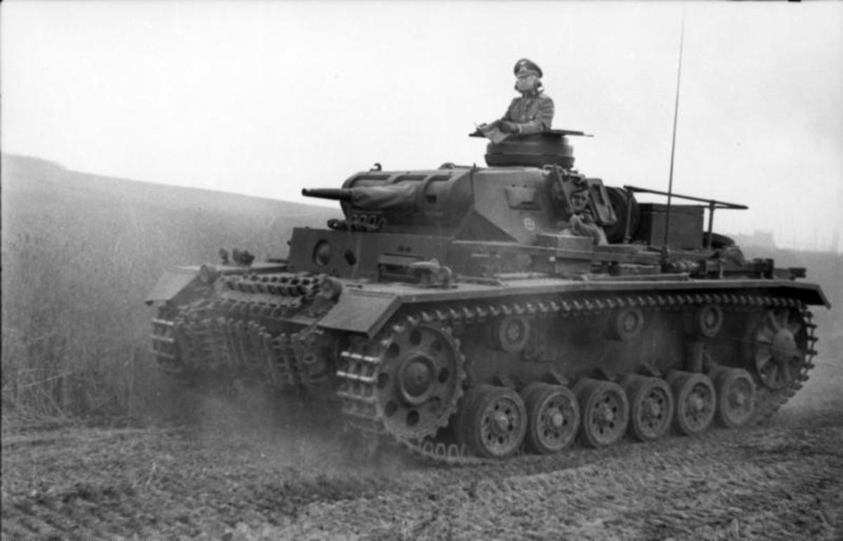 The German MK III main battle tank of the German army. Only a few hundred were available for the Polish campaign they were the best medium tank in the German army in September 1939.