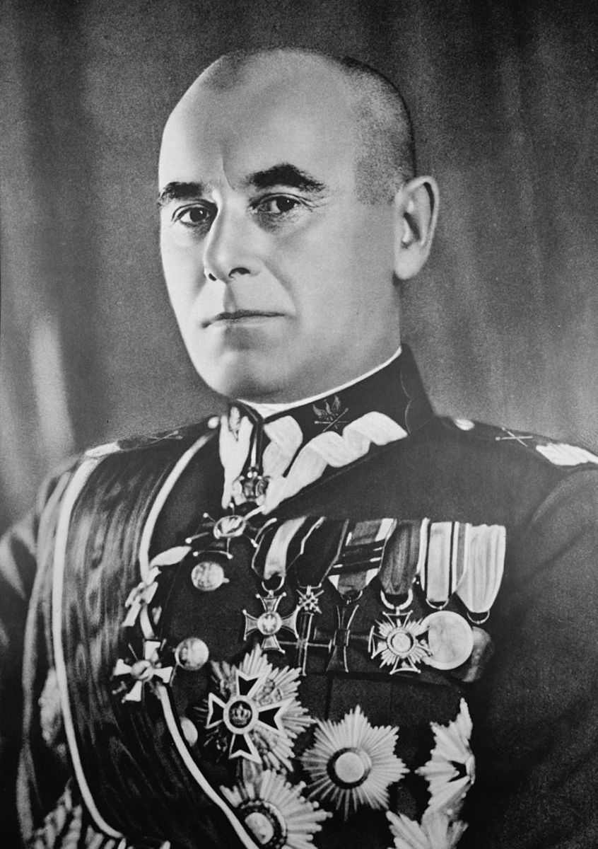 The ill-fated Polish Commander-in-Chief  Edward Śmigły-Rydz September 1937.