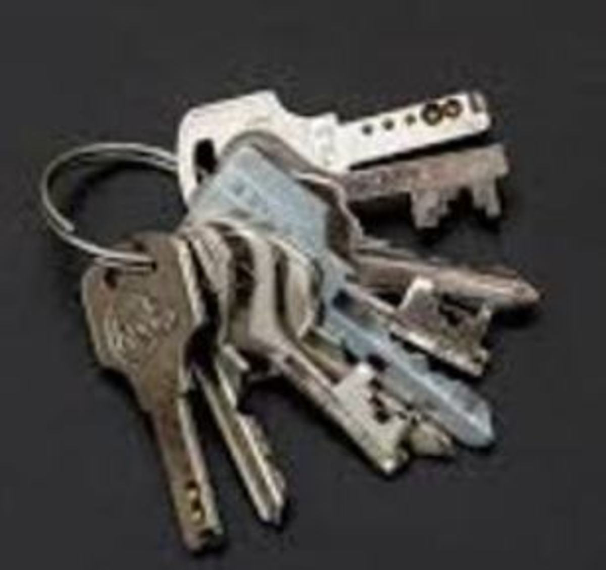 Bunch of Keys Held in a Key Ring