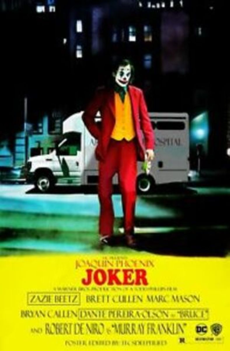 This poster shows how deeply this film's inspired by the cinema of the time that it's set in. Take for example the way the Title Stencil('JOKER') pans out on the screen exactly as it was in 'Taxi Driver'.