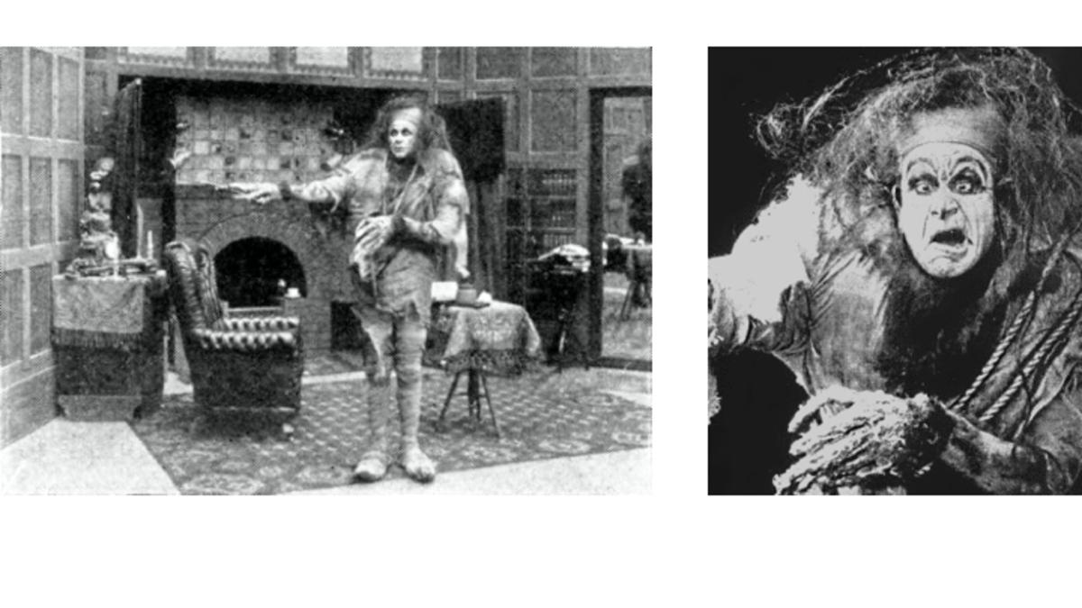 Charles Ogle as The Monster in 1910 Frankenstein