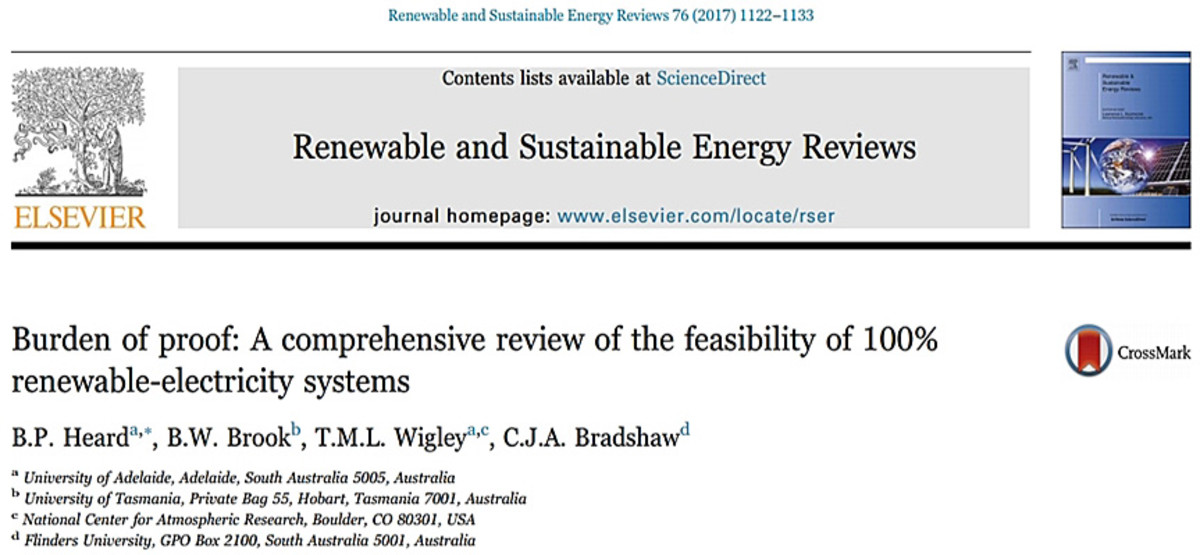Image of paper on 100% renewables by Heard and others