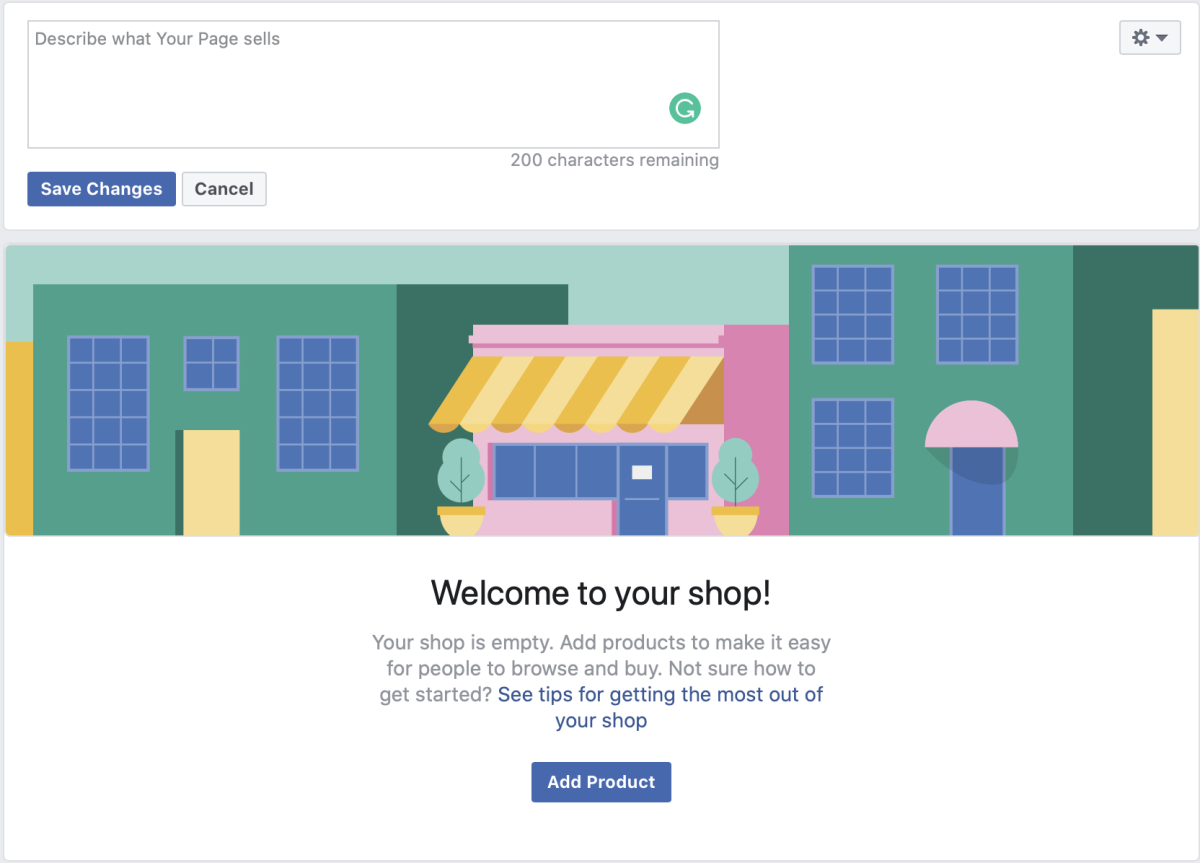 Add Description of What Your Facebook Page is Going to Sell and Add Products to Your Facebook Shop