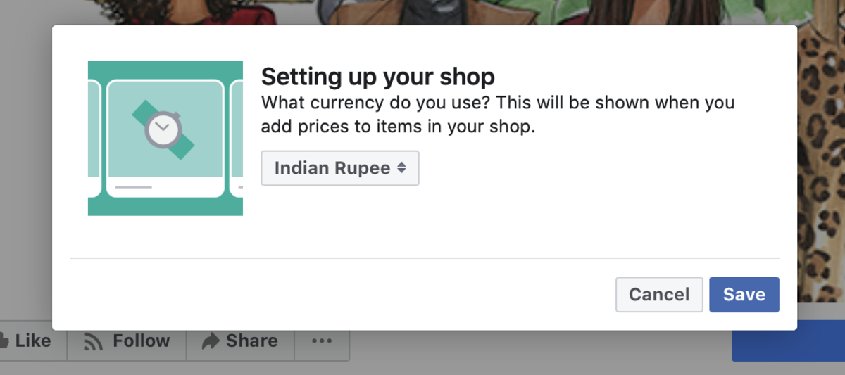 Select the Currency for Your Facebook Shop
