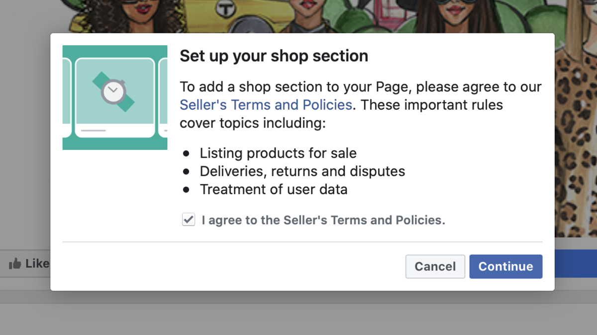 Agree to Facebook's Seller Terms and Conditions