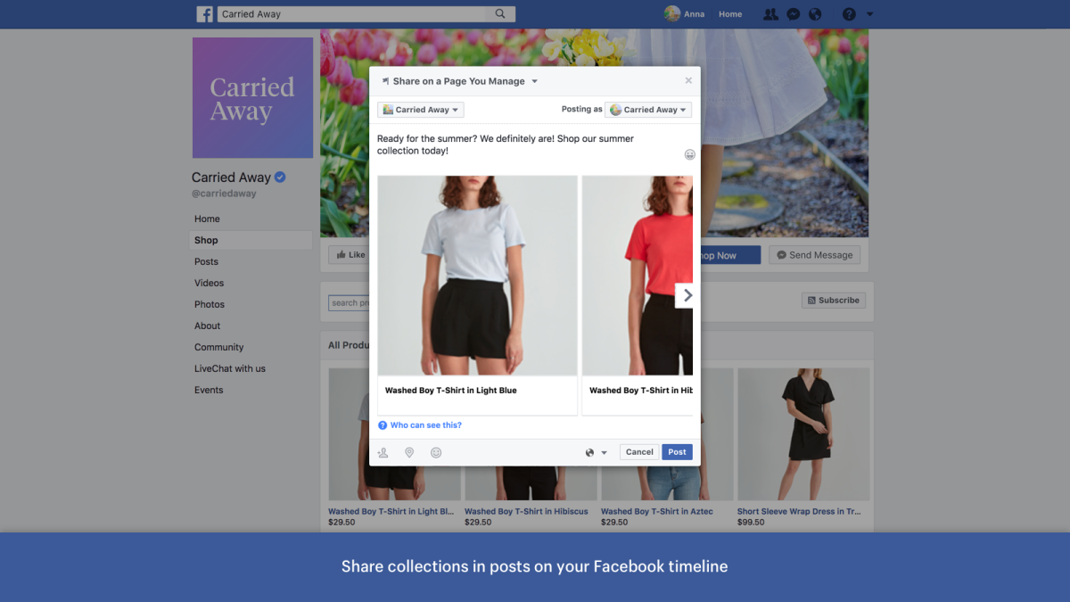 Promoting Collection from Your Facebook Shop