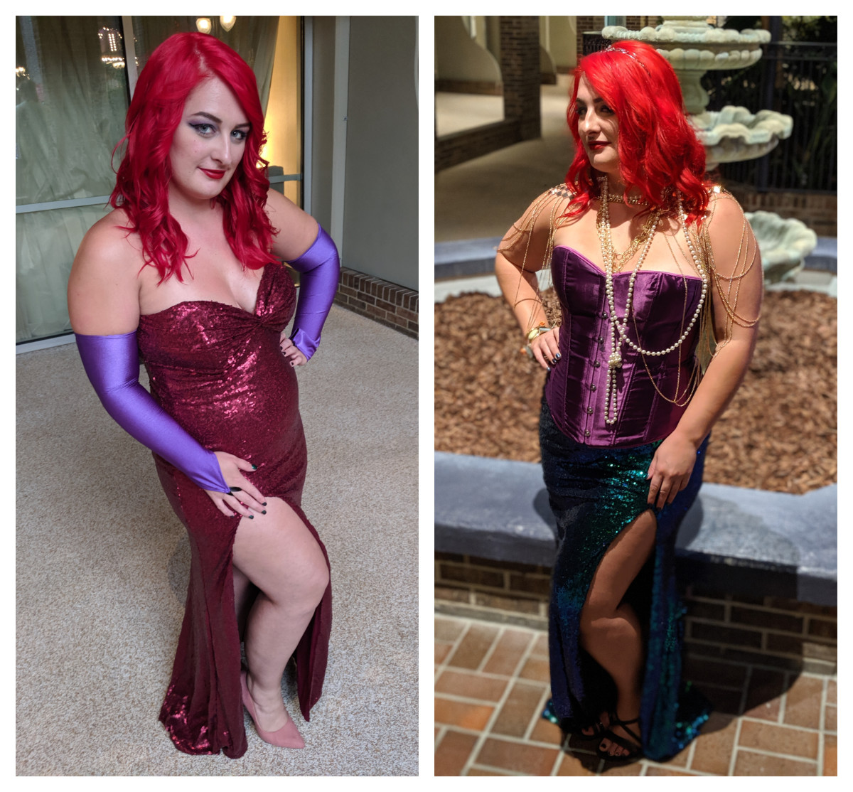This color ended up working PERFECTLY for my Jessica Rabbit & Ariel cosplays.