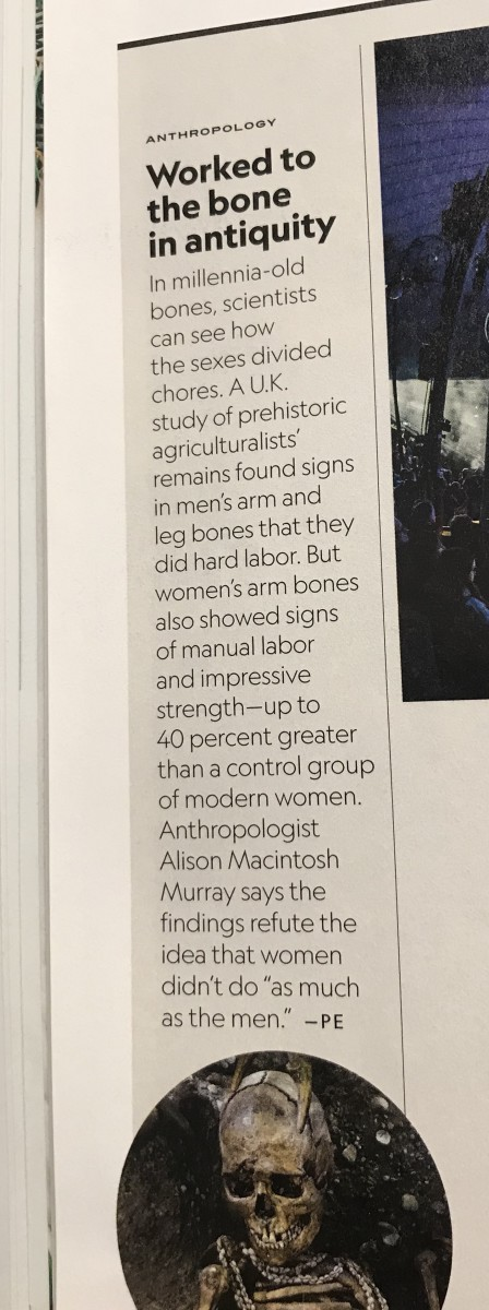 Based on buried bones, women's arm bones were up to 40% stronger than a modern control group.  Most modern assumptions on women's physique ignore history
