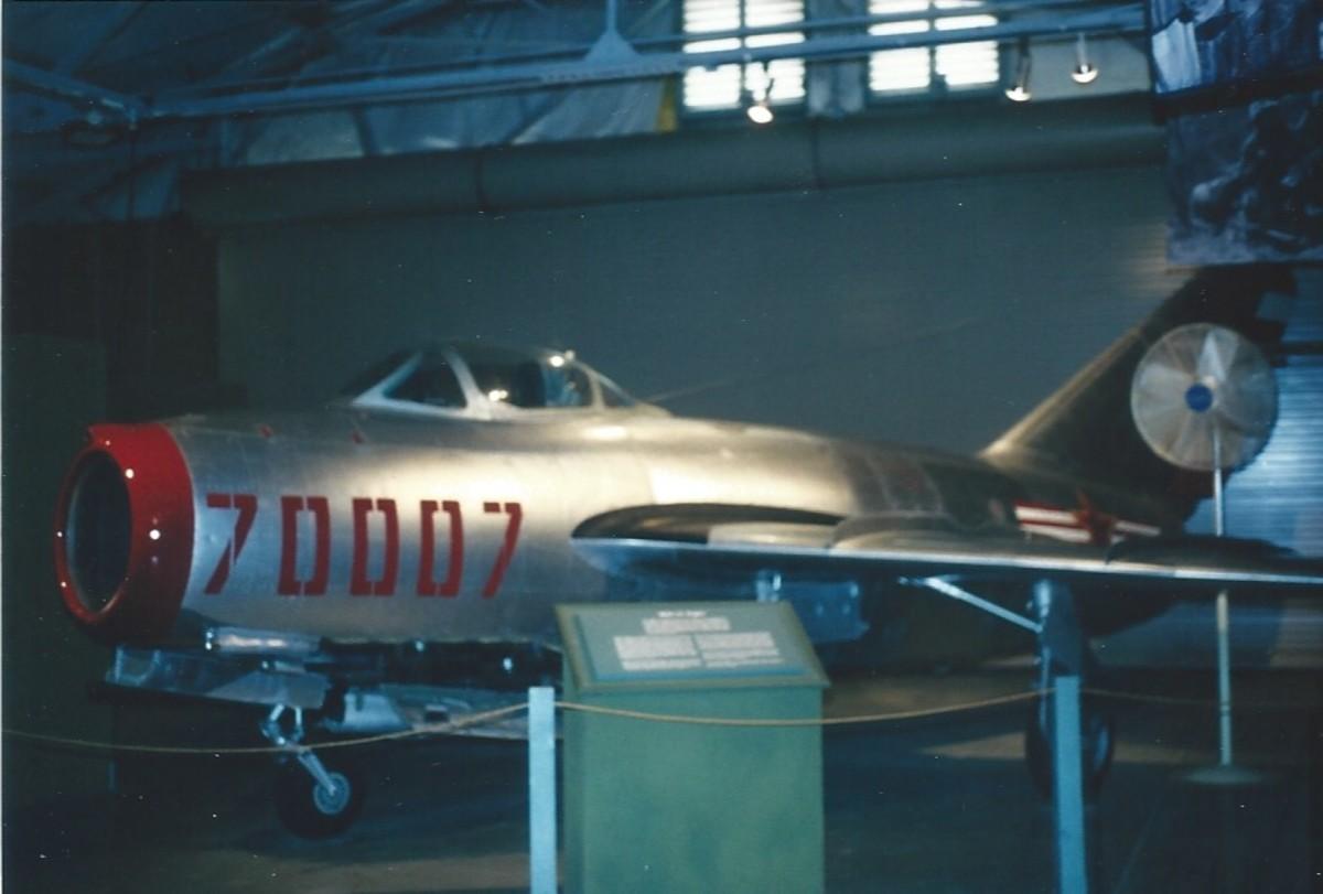 A MiG-15 at the Marine Air Ground Museum, Quantico Marine Base, circa 1990
