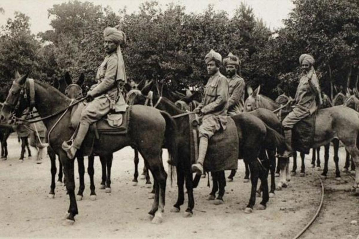 First Indian cavalry in England