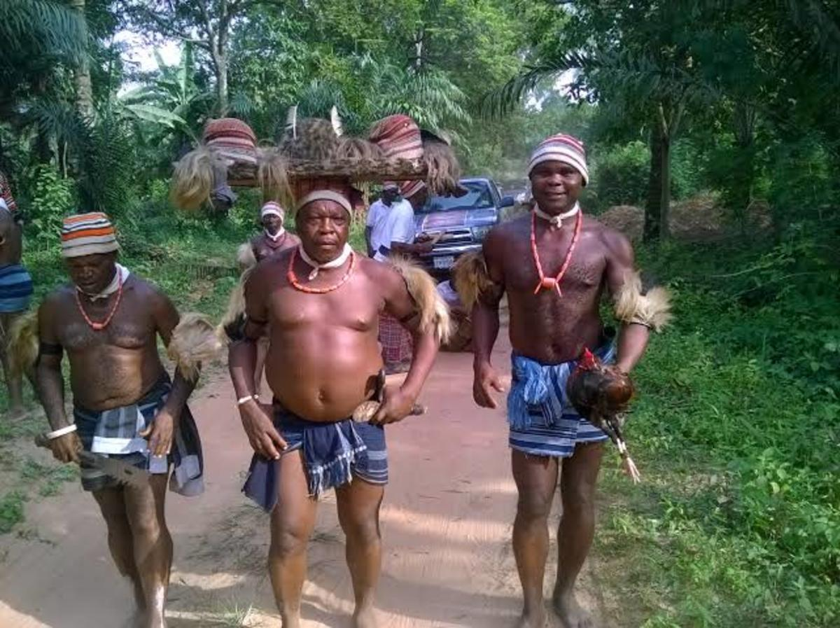 Ohafia traditional dancers