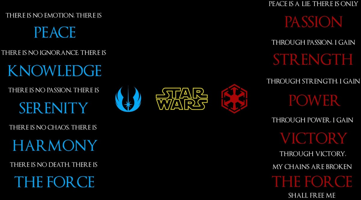 Comparing the Jedi and Sith Codes