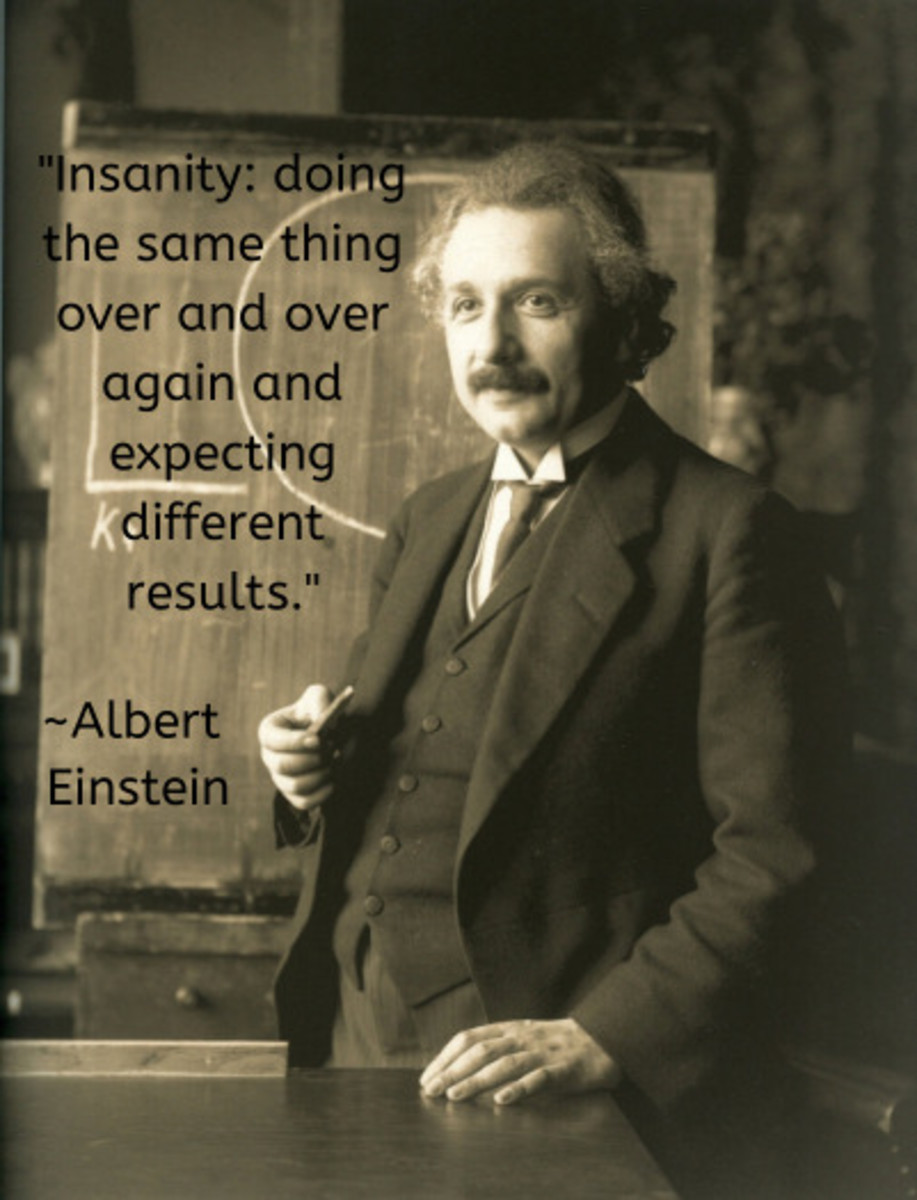 Albert Einstein was a German-born theoretical physicist who developed the theory of relativity, one of the two pillars of modern physics. His work is also known for its influence on the philosophy of science. March 14, 1879/ April 18, 1955