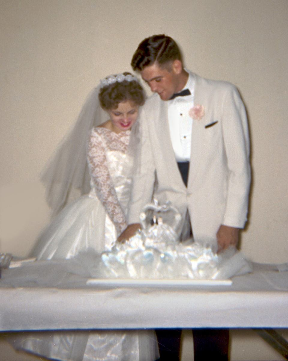 Dick and June Scobee, married at Mayfield Baptist Church in San Antonio