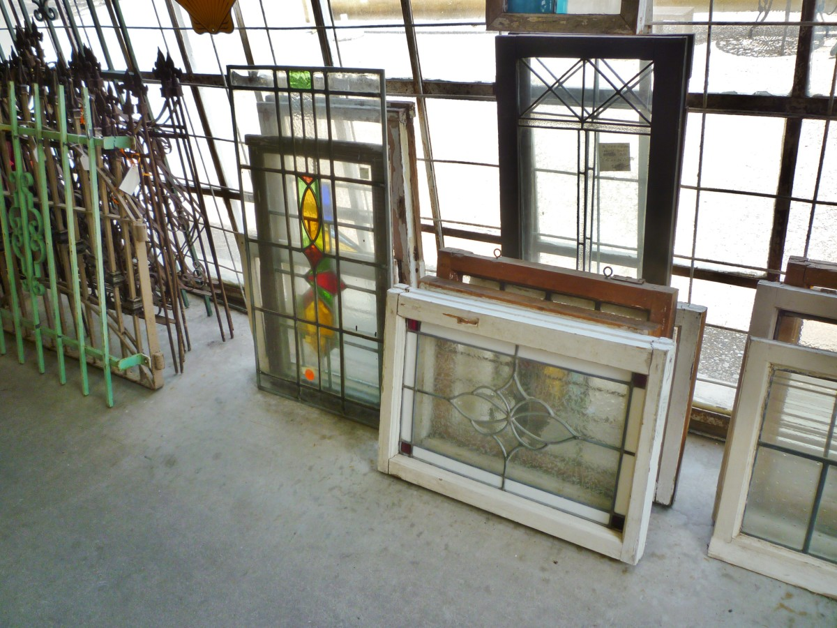 Leaded glass windows, etc.