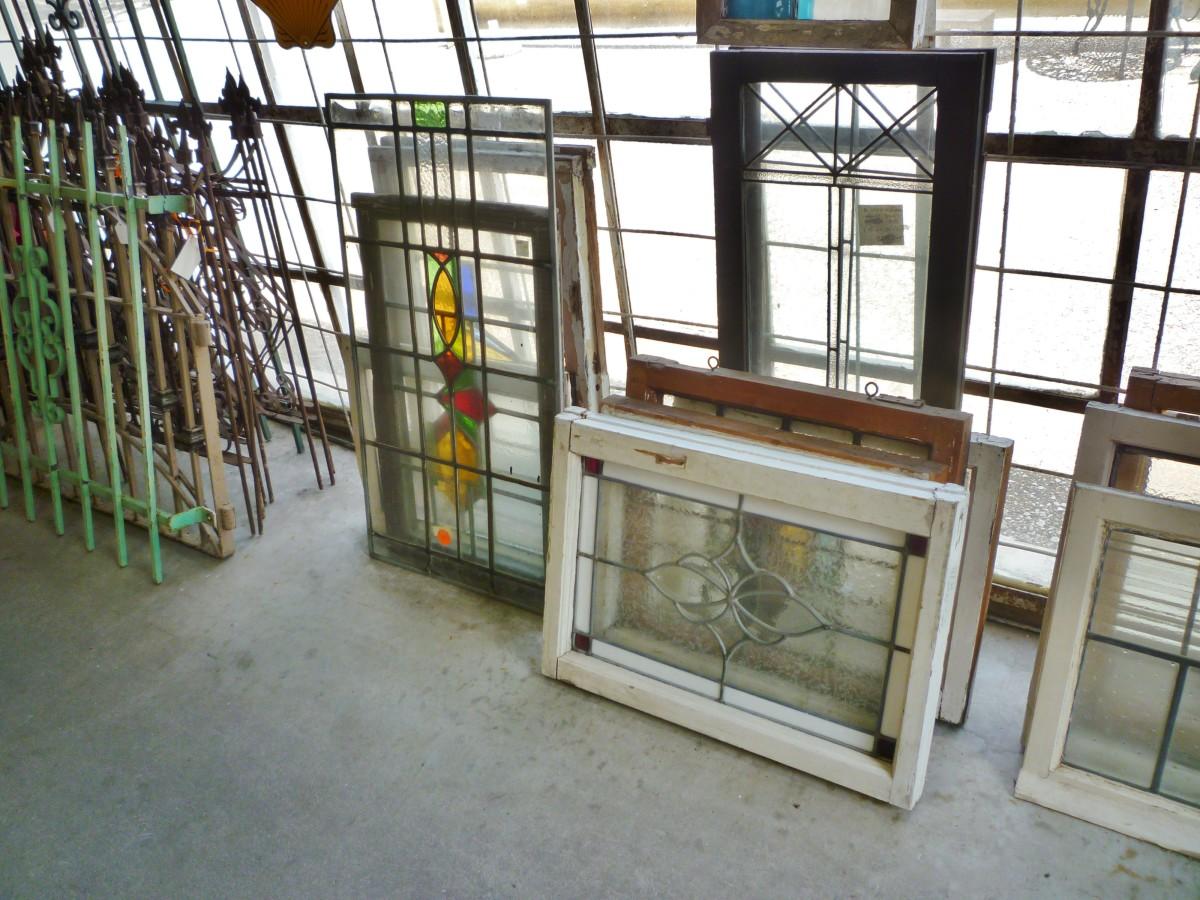 Leaded glass windows, etc.