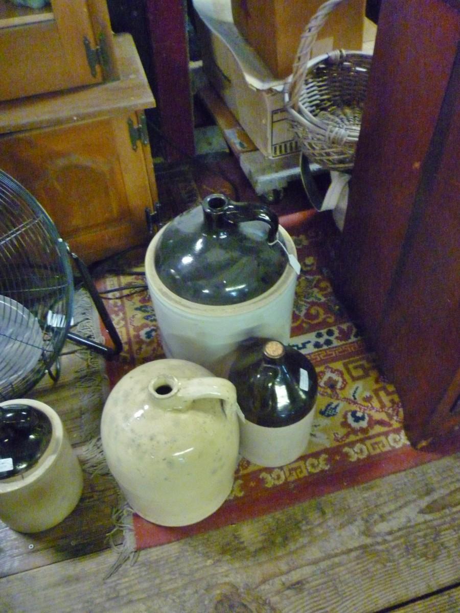 Vintage jugs and crocks