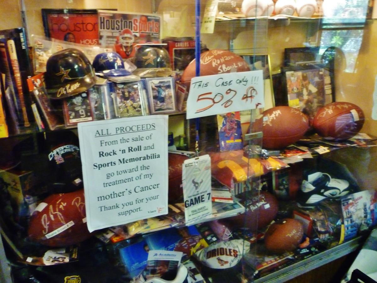 Sports memorabilia for sale