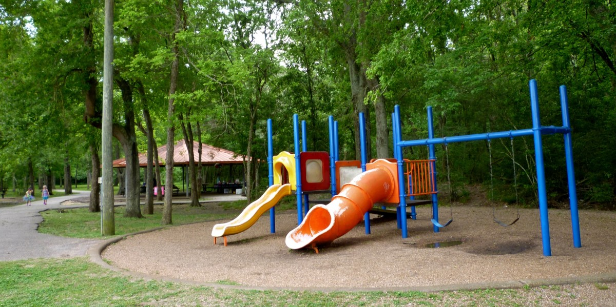 One of several play areas on the north side of Cullen Park