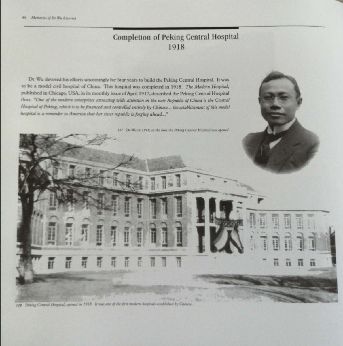 The pride of China's health advancement. The first model civil hospital of China. Peking Central Hospital, opened in 1918.