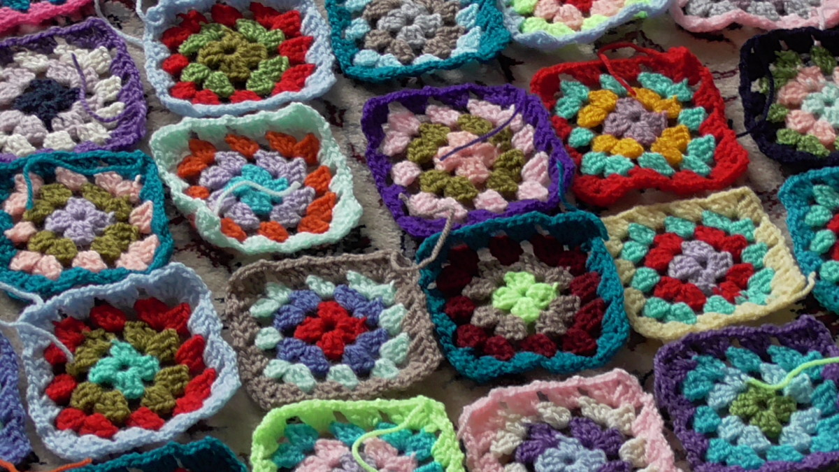 Maybe you can crochet squares for a blanket together with some other people in your neighborhood.