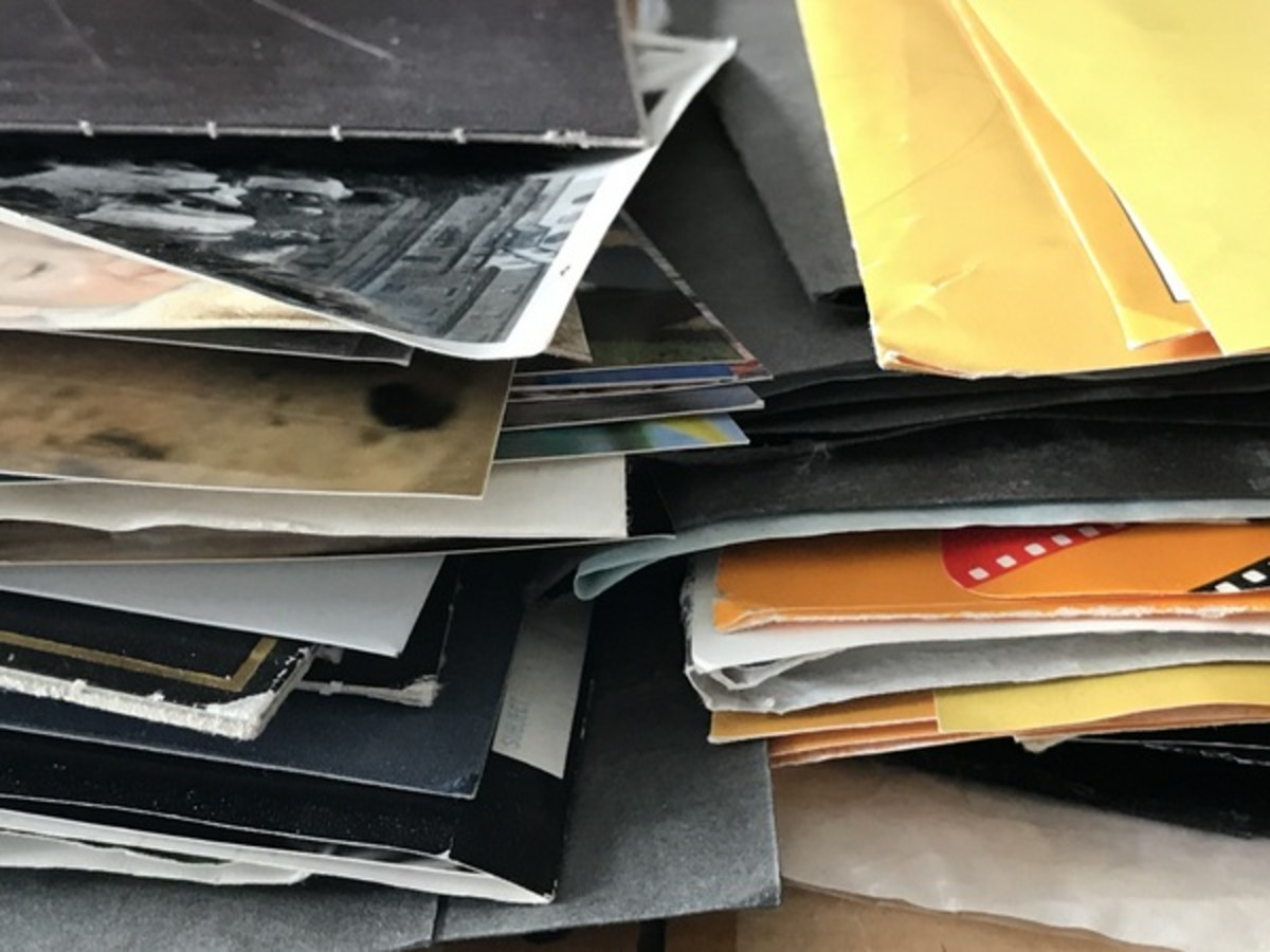If you have physical photos, now is the time to sort them out.
