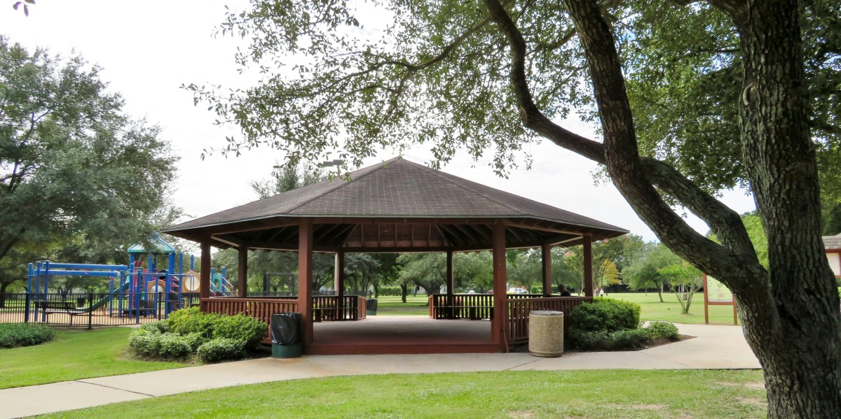 One of two gazebos in Ray Miller Park