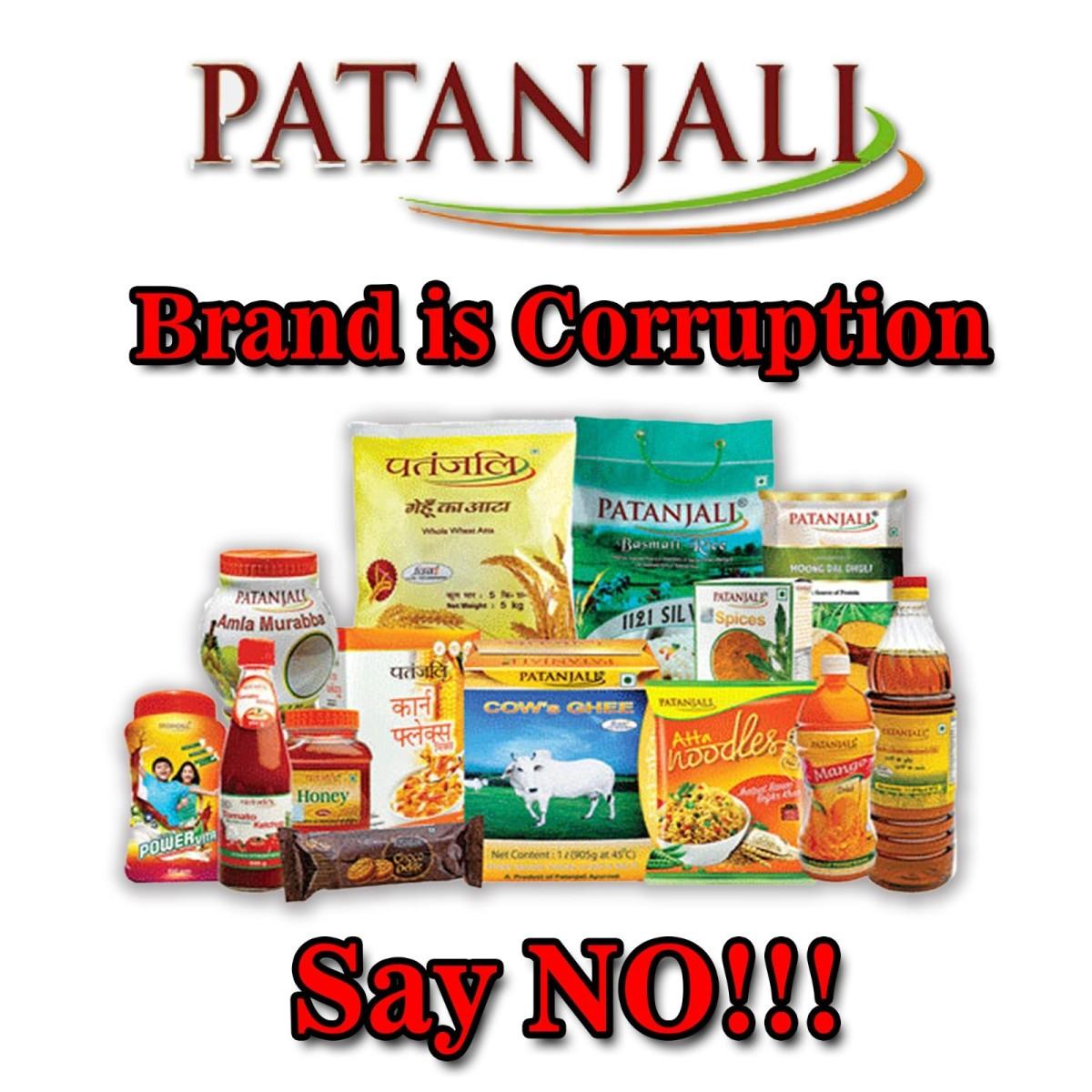 Patanjali Name of Corruption