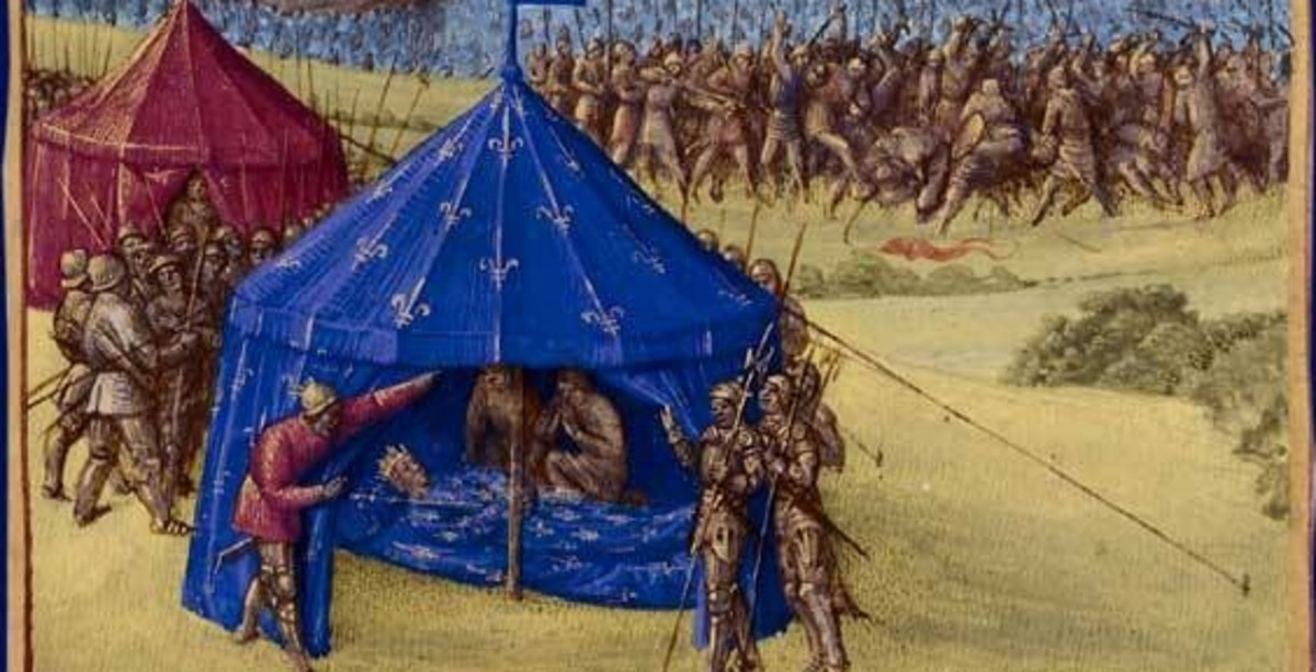 Death of Saint King Louis IX. His remains underwent defleshing so it could be taken home.