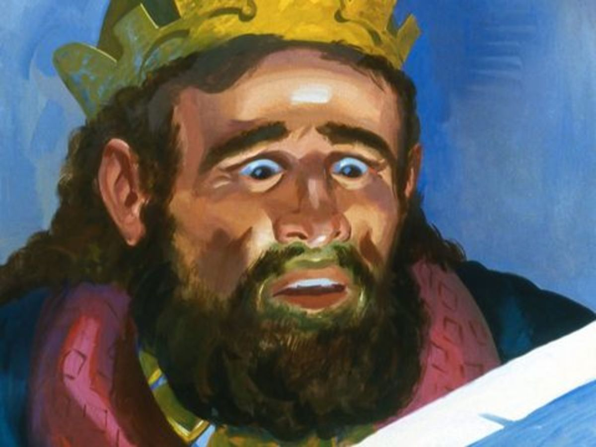 The King of Israel shocked by the letter from the King of Aram