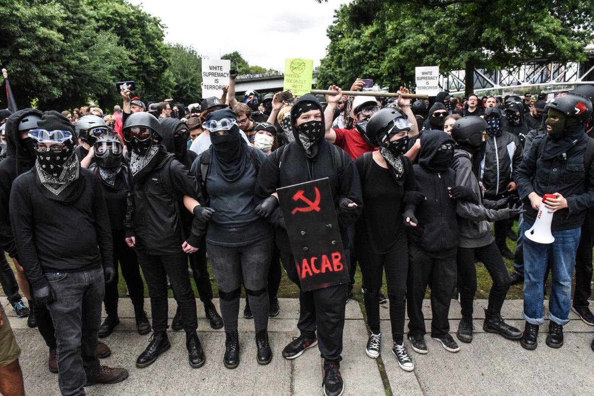 Antifa Goons (Note the Soviet Hammer & Sickle)