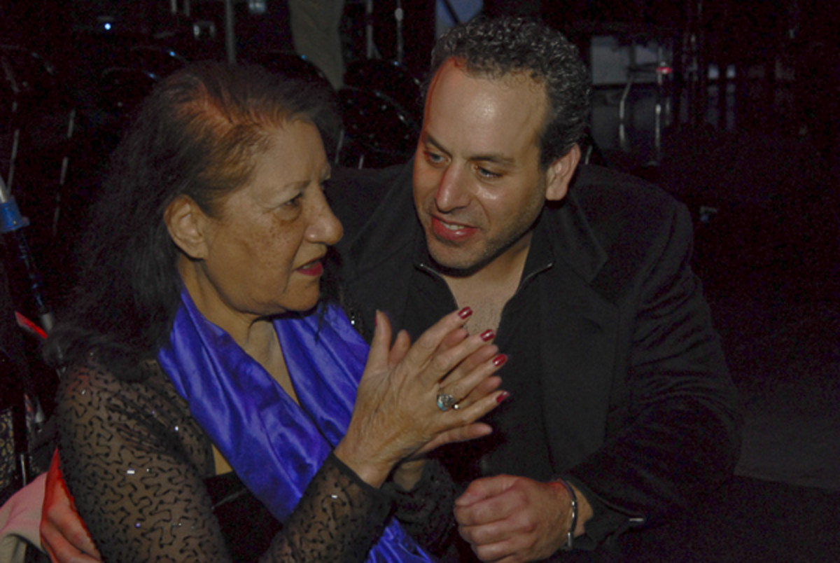 Jordan with the great Jazz Singer, Sathima Bea Benjamin, when he MC'd an event at The Apollo Theater.