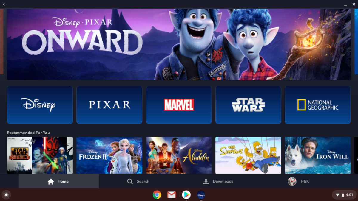Disney+ On Chromebook