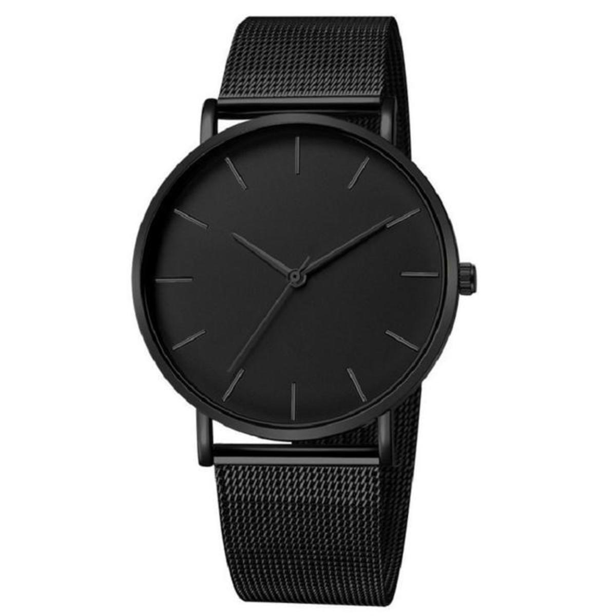 Minimal, elegant black watch