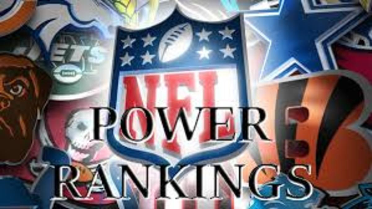 My Week 13 NFL Power Rankings 2017 Edition