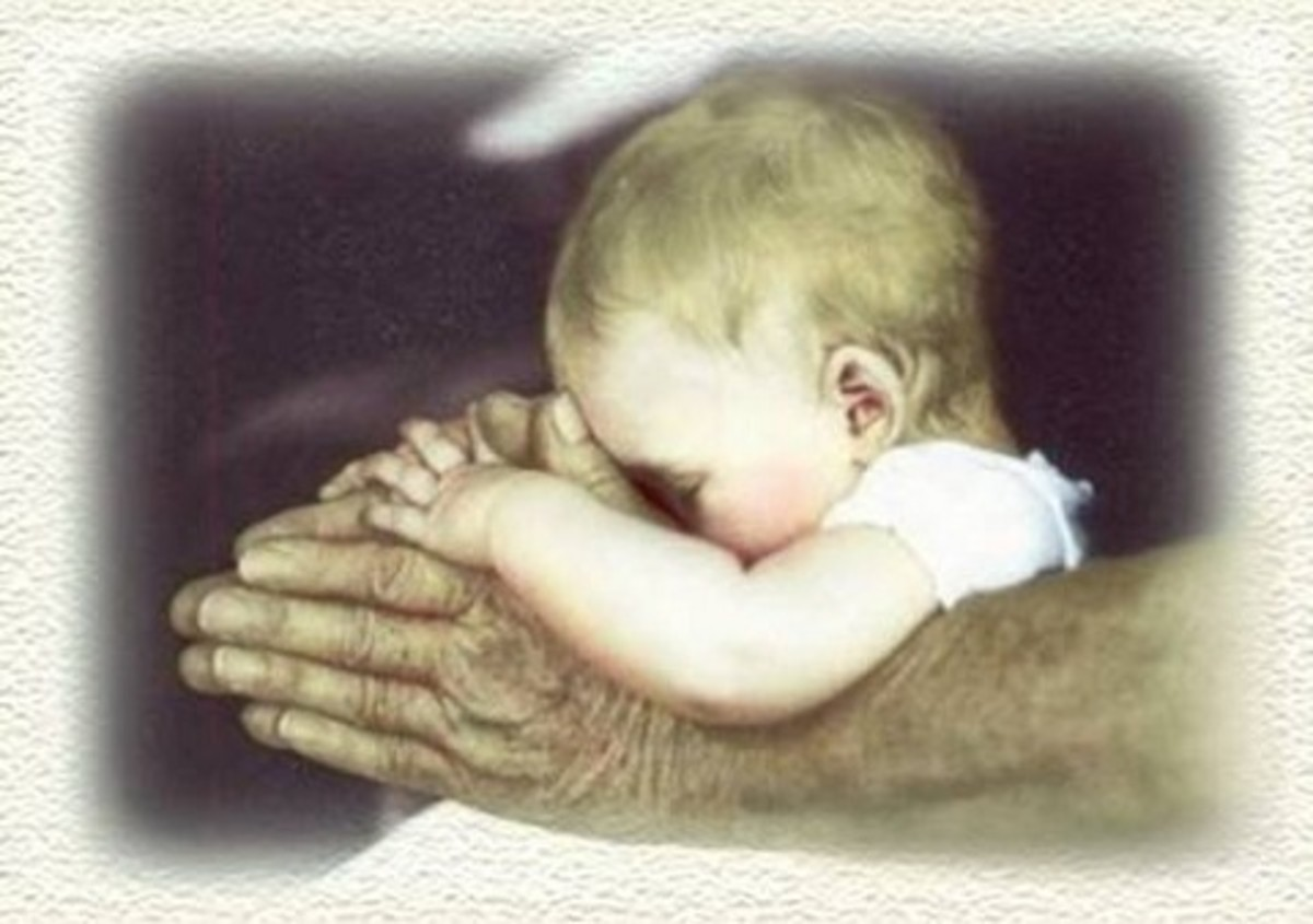 Father and Infant Praying