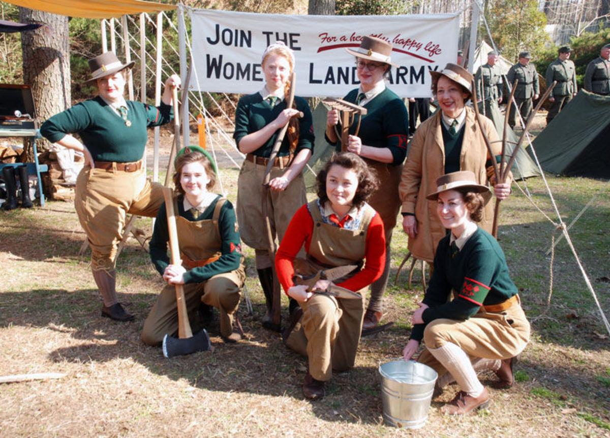 Group of Lumber Jills