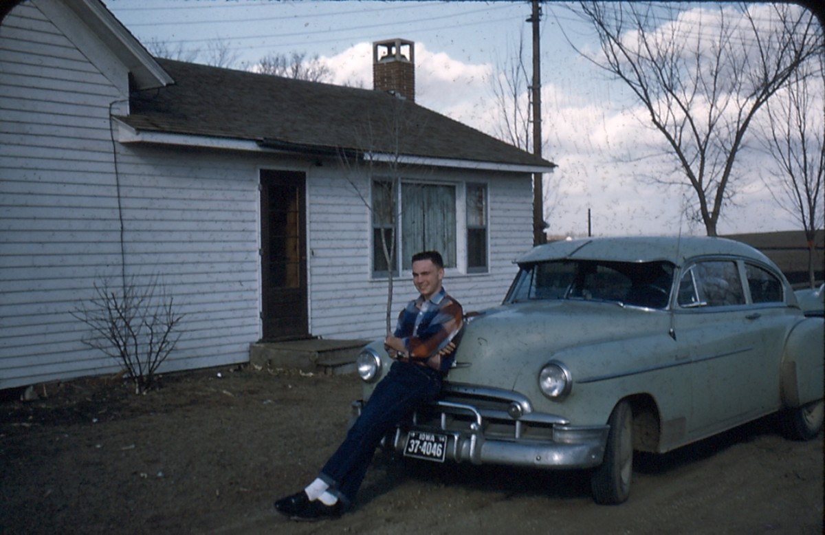 Bill and his 1949 Chevy - on top of the world
