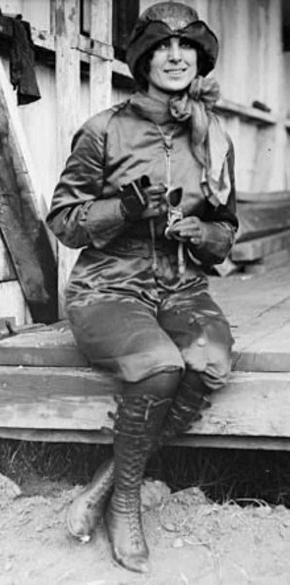 The First American Female Pilot, Harriet Quimby