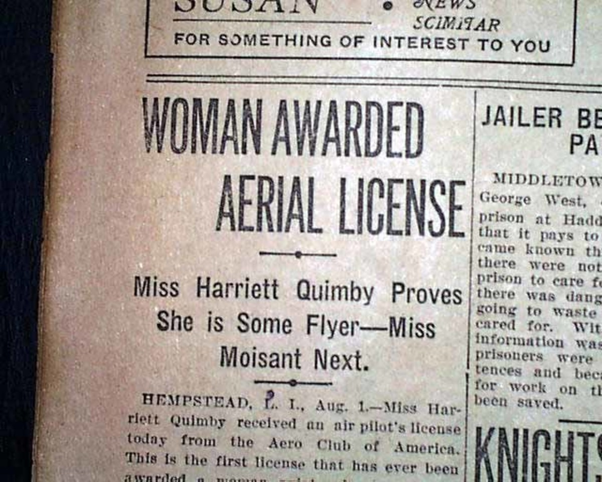 Pilot's License for Harriet, 1911