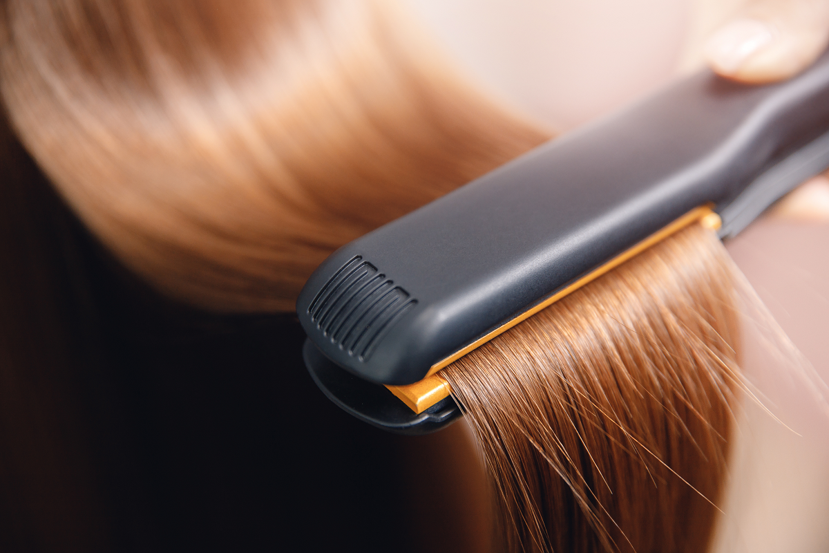 Your hair will be straightened with a flat iron twice during treatment to position and set the new bonds in place.