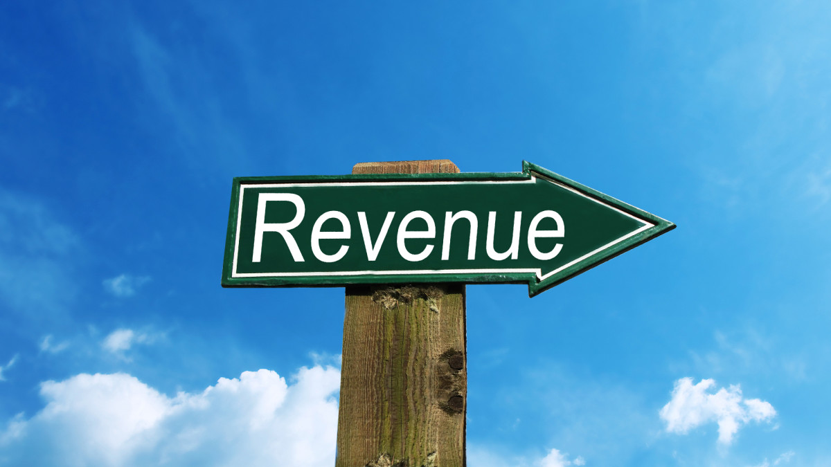 A firm's revenue represents the amount it receives by selling goods or services in a given period.