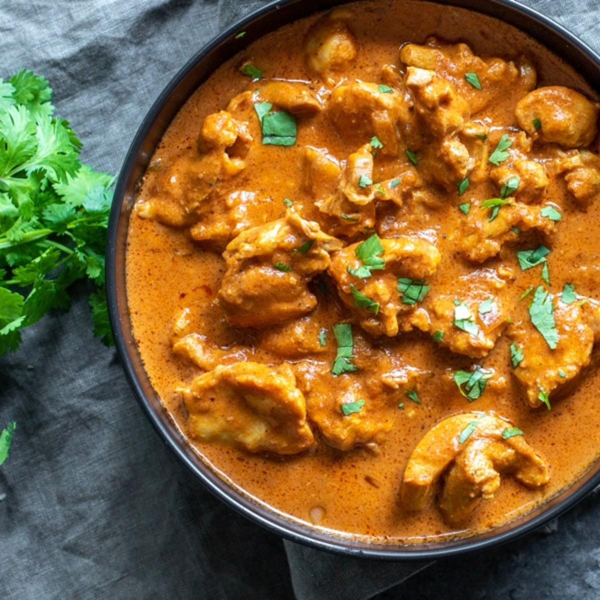 Instant Pot butter chicken done in the Instant Pot, and Keto friendly.  Great served over Cauliflower rice.