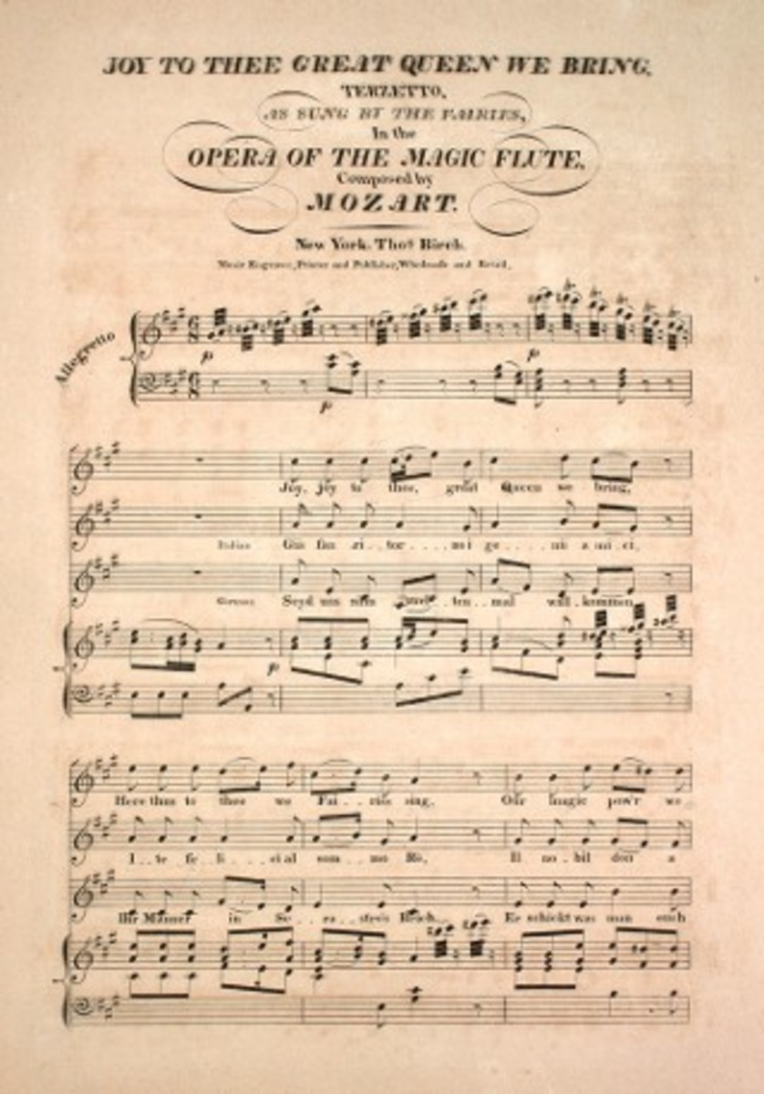 Joy to Thee Great Queen We Bring. Terzetto. Mozart. Courtesy of the Lester S. Levy Collection of Sheet Music, The Sheridan Libraries, The Johns Hopkins University.