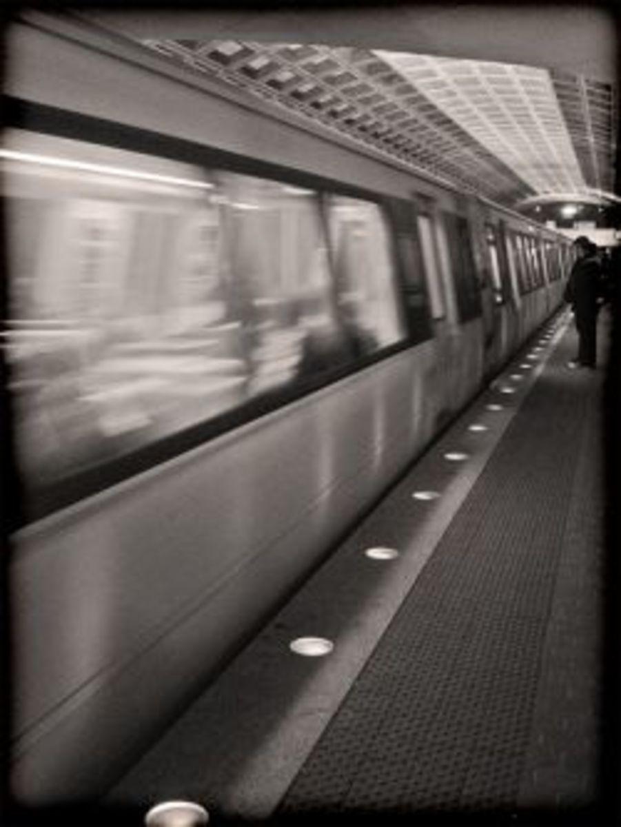D.C. Metro: Passing Train